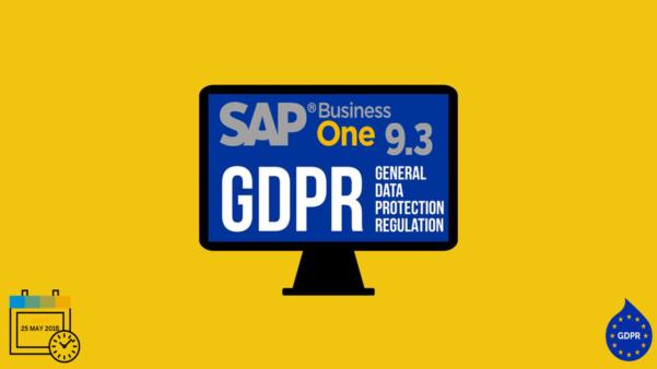 GDPR no SAP Business One 9.3 PL04